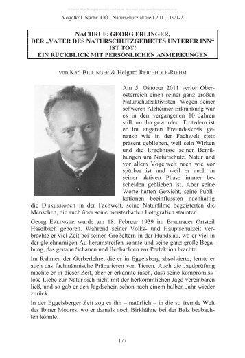 "NACHRUF: GEORG ERLINGER, DER ""VATER DES ..."