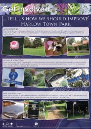 Consultation leaflet, masterplan proposal, theme ... - Harlow Council