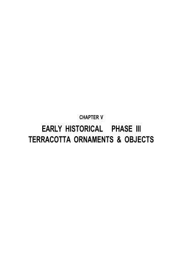 early historical phase iii terracotta ornaments & objects - Shodhganga