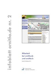 infoblatt ornitho.de nr. 2 - Ornithologische Arbeitsgemeinschaft ...