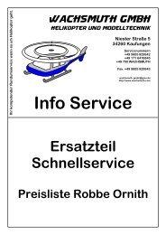 Ersatzteil Preisliste Robbe Ornith kurz - Wachsmuth GmbH