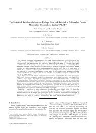 The Statistical Relationship between Upslope Flow and Rainfall in ...
