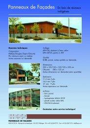 Panneaux de Façades En bois de résineux - Hess & Co. AG