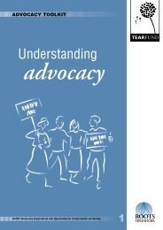 Understanding Advocacy - The Tearfund International Learning Zone