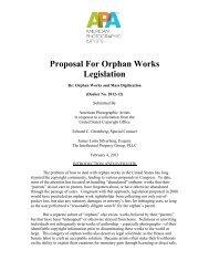 Proposal For Orphan Works Legislation - US Copyright Office