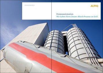 Dosieren/Mischen: Broschüre PDF - Alpiq Intec Schweiz