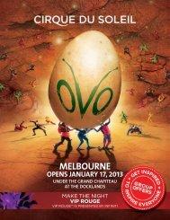 MELBOURNE - Cirque du Soleil