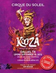 DALLAS, TX - Cirque du Soleil