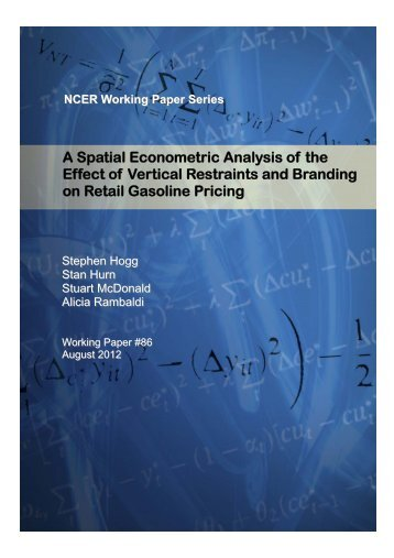 A Spatial Econometric Analysis of the Effect of Vertical Restraints ...