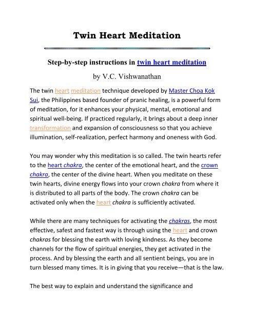 Twin Heart Meditation - www BahaiStudies net