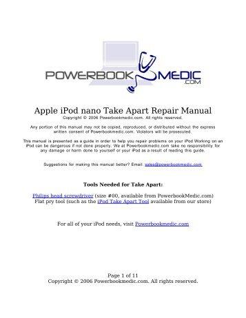 apple ipod mini take apart repair manual powerbook medic rh yumpu com apple ipad mini manual guide apple ipod shuffle manual pdf