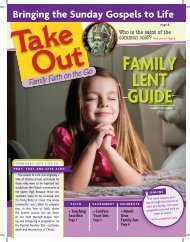 Take Out: Family Faith on the Go Lent 2013 - Our Sunday Visitor