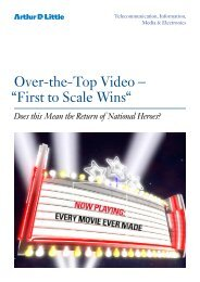 """Over-the-Top Video – """"First to Scale Wins"""" - Arthur D. Little"""