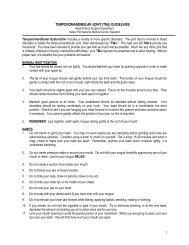 TEMPOROMANDIBULAR JOINT (TMJ) GUIDELINES