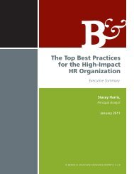 The Top Best Practices for the High-Impact HR Organization - Bersin ...