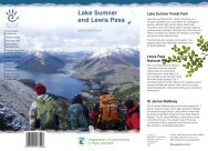 Lake Sumner - Lewis Pass brochure - Department of Conservation