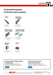 23 Sandwichmagnete 23 Aimants type sandwich - Maurer Magnetic ...