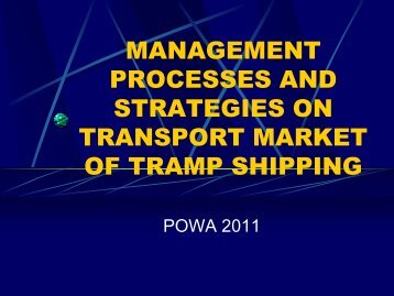 selling of services in tramp shipping