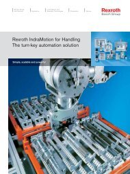 Rexroth IndraMotion for Handling The turn-key ... - Bosch Rexroth