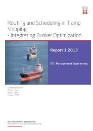Routing and Scheduling in Tramp Shipping - Integrating Bunker ...