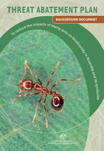 Threat Abatement Plan - Tramp Ants - Background Document