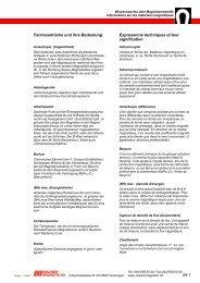 Fachausdrücke und ihre Bedeutung - Maurer Magnetic AG