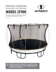 MODEL SF90E - Springfree Trampoline