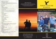 Parent Tramp Brochure - St Paul's Collegiate School