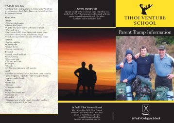Parent Tramp Brochure - St Paul's Collegiate School