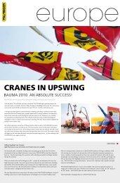 CRANES IN UPSWING - Palfinger