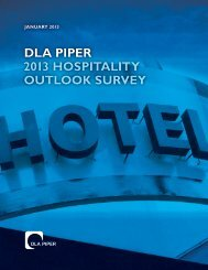 DLA Piper's 2013 Hospitality Outlook Survey