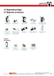 27 Magnetbeschläge 27 Magnetic armatures - Maurer Magnetic AG