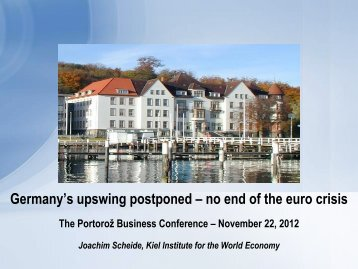 Germany's upswing postponed – no end of the euro crisis