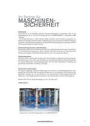 MASCHINEN- SICHERHEIT - MATTLE INDUSTRIE-PRODUKTE AG