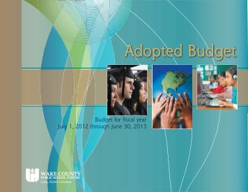 2012-13 Adopted Budget - Wake County Public School System