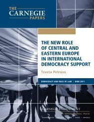 The New Role of Central and Eastern Europe - Carnegie ...