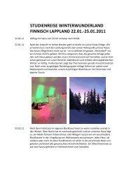 Studienreise Lappland