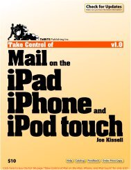 Take Control of Mail on the iPad, iPhone, and iPod touch (1.0 ...