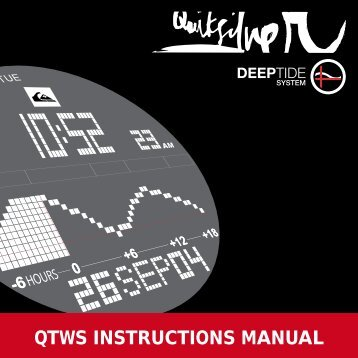 Quiksilver Deep 300 Watch Manual