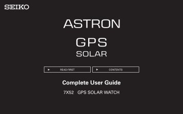 Complete User Guide - Seiko
