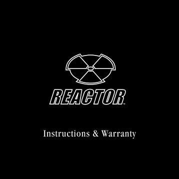 Instructions & Warranty - Reactor Watch