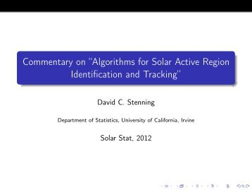 Algorithms for Solar Active Region Identification and Tracking