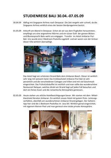Reisebericht Bali
