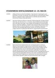 Reisebericht Kenya/Zanzibar