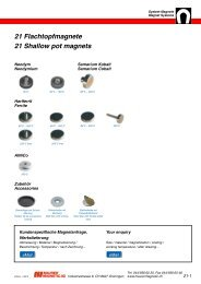 21 Flachtopfmagnete 21 Shallow pot magnets - Maurer Magnetic AG