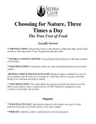 Choosing for Nature, Three Times a Day - Sierra Club