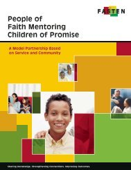 People of Faith Mentoring Children of Promise - FASTEN
