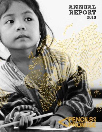 2010 Annual Report - Pencils of Promise