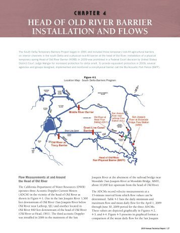 Head OF Old riVer Barrier installatiOn and FlOWs - San Joaquin ...