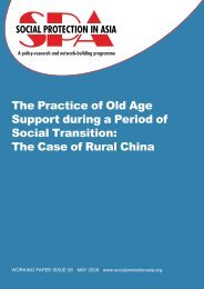 The Practice of Old Age Support during a Period of Social Transition ...